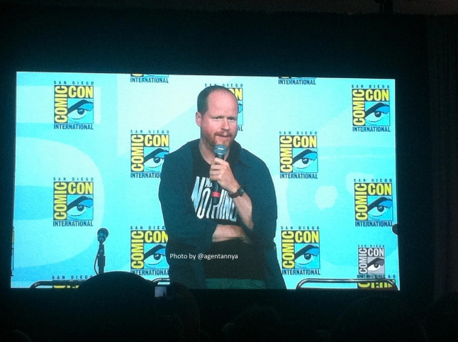 Joss Whedon SDCC with name